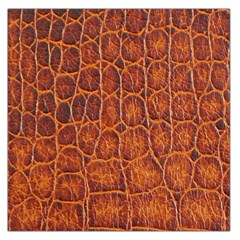 Crocodile Skin Texture Large Satin Scarf (Square)