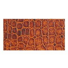 Crocodile Skin Texture Satin Shawl
