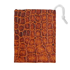 Crocodile Skin Texture Drawstring Pouches (extra Large)