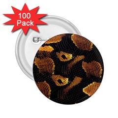 Gold Snake Skin 2 25  Buttons (100 Pack)