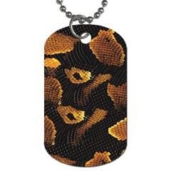 Gold Snake Skin Dog Tag (one Side)