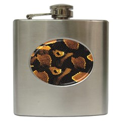 Gold Snake Skin Hip Flask (6 oz)