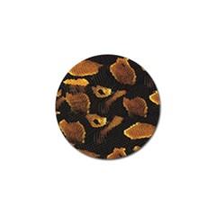 Gold Snake Skin Golf Ball Marker