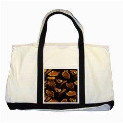 Gold Snake Skin Two Tone Tote Bag
