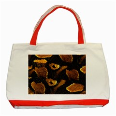 Gold Snake Skin Classic Tote Bag (red)