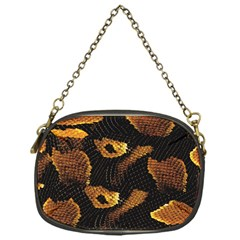 Gold Snake Skin Chain Purses (One Side)