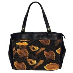 Gold Snake Skin Office Handbags (2 Sides)