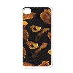 Gold Snake Skin Apple iPhone 4 Case (White)