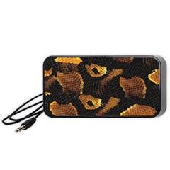 Gold Snake Skin Portable Speaker (black)