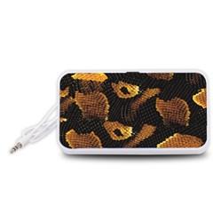Gold Snake Skin Portable Speaker (white)