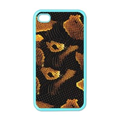 Gold Snake Skin Apple iPhone 4 Case (Color)