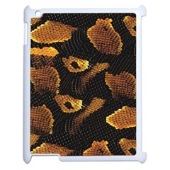 Gold Snake Skin Apple iPad 2 Case (White)