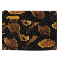 Gold Snake Skin Cosmetic Bag (XXL)