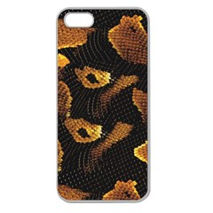 Gold Snake Skin Apple Seamless iPhone 5 Case (Clear)