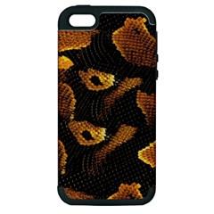 Gold Snake Skin Apple iPhone 5 Hardshell Case (PC+Silicone)