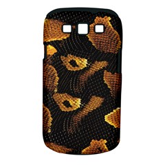 Gold Snake Skin Samsung Galaxy S Iii Classic Hardshell Case (pc+silicone)