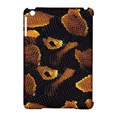 Gold Snake Skin Apple Ipad Mini Hardshell Case (compatible With Smart Cover)