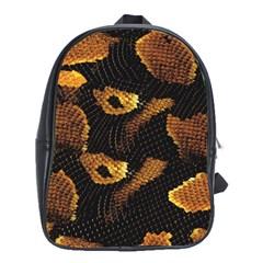 Gold Snake Skin School Bags (XL)