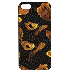 Gold Snake Skin Apple iPhone 5 Hardshell Case with Stand