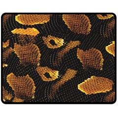 Gold Snake Skin Double Sided Fleece Blanket (Medium)