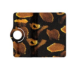 Gold Snake Skin Kindle Fire HDX 8.9  Flip 360 Case