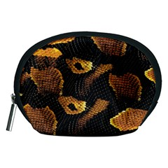 Gold Snake Skin Accessory Pouches (Medium)