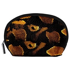 Gold Snake Skin Accessory Pouches (Large)
