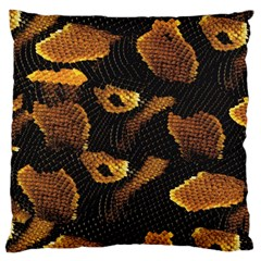 Gold Snake Skin Standard Flano Cushion Case (Two Sides)