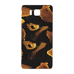 Gold Snake Skin Samsung Galaxy Alpha Hardshell Back Case