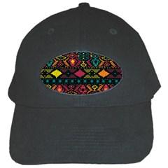 Bohemian Patterns Tribal Black Cap