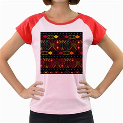 Bohemian Patterns Tribal Women s Cap Sleeve T-Shirt