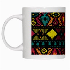 Bohemian Patterns Tribal White Mugs