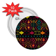 Bohemian Patterns Tribal 2.25  Buttons (10 pack)