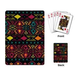 Bohemian Patterns Tribal Playing Card