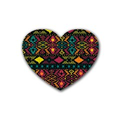 Bohemian Patterns Tribal Heart Coaster (4 Pack)