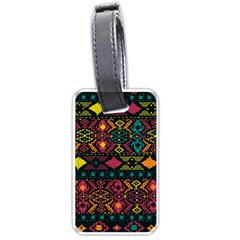 Bohemian Patterns Tribal Luggage Tags (One Side)