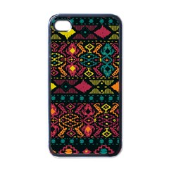 Bohemian Patterns Tribal Apple iPhone 4 Case (Black)
