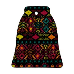 Bohemian Patterns Tribal Bell Ornament (Two Sides)