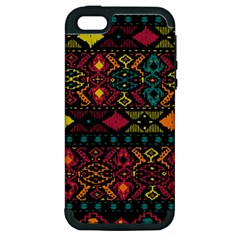 Bohemian Patterns Tribal Apple iPhone 5 Hardshell Case (PC+Silicone)