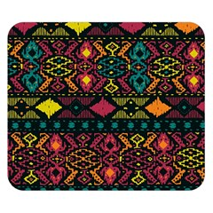 Bohemian Patterns Tribal Double Sided Flano Blanket (Small)