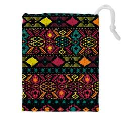 Bohemian Patterns Tribal Drawstring Pouches (xxl)