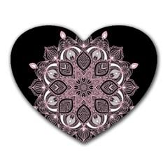 Ornate mandala Heart Mousepads