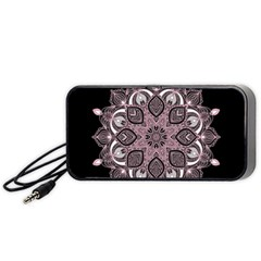 Ornate mandala Portable Speaker (Black)