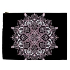 Ornate mandala Cosmetic Bag (XXL)