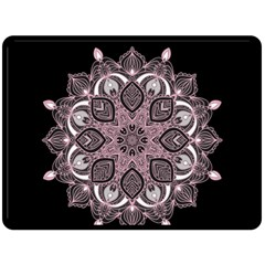 Ornate mandala Double Sided Fleece Blanket (Large)