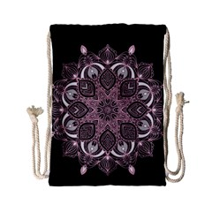 Ornate mandala Drawstring Bag (Small)