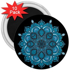Ornate mandala 3  Magnets (10 pack)