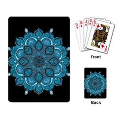 Ornate mandala Playing Card