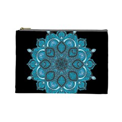 Ornate mandala Cosmetic Bag (Large)