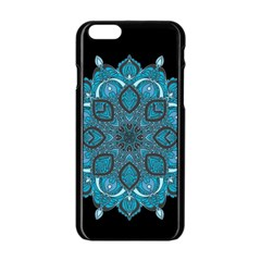 Ornate Mandala Apple Iphone 6/6s Black Enamel Case